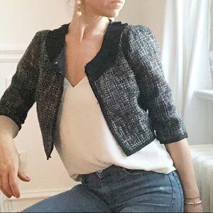 Forever 21 Tweed Black Balero Jacket